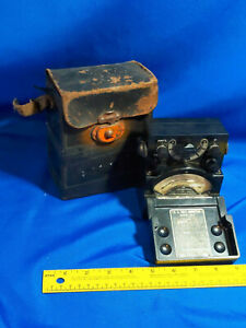 Antique Weston 540 Early Electrical Instruments Dc Volt Meter In Case Vtg Panel