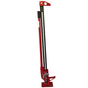48 Ratcheting Off Road Farm Jack 3 5 Ton Capacity Red