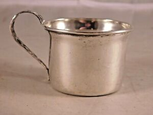 Antique Manchester Silver Co Sterling Silver Baby Cup 885