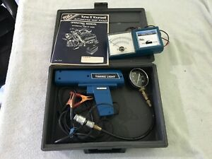 Vintage Kar Check Tach Dwell Tester Timing Gun With Case Manual