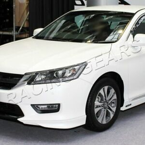 Fit 2013 15 Honda Accord Sedan Hfp Style Painted White Front Bumper Spoiler Lip