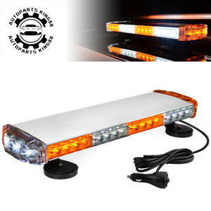 21 38w Emergency Amber White Led Strobe Magnetic Roof Mount Mini Led Light Bar