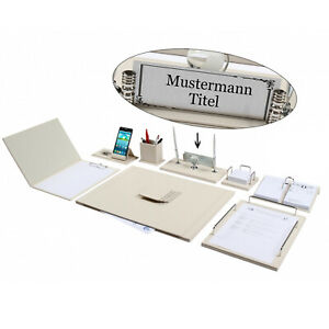 Geda 12 Piece Desk Blotter Set Desk Pad Set With Personal Name Plate In 6 Color