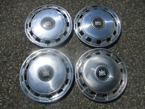 Factory 1975 To 1989 Mercury Marquis 15 Inch Hubcaps Wheel Covers Set