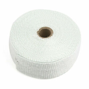 10m White Woven Cloth Car Motorcycle Exhaust Pipe Heat Insulation Wrap Tape