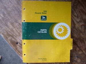John Deere 500 Round Baler Parts Catalog Manual Book Original Pc 1529