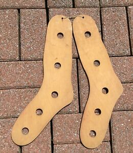 Excellent Antique Wooden Stocking Stretchers Sock Size 10 1 2 Forms W W