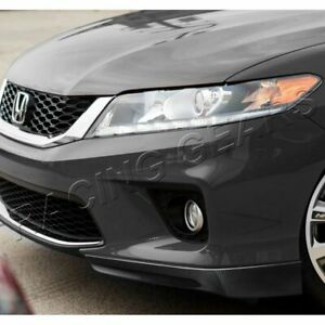 Fit 2013 2015 Honda Accord Coupe Hfp Style Carbon Look Front Bumper Spoiler Lip