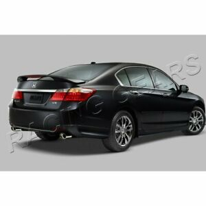 Fit 2013 2015 Honda Accord Sedan Hfp Style Painted Black Rear Bumper Spoiler Lip