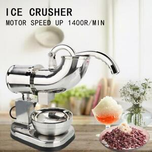 Professional Snow Cone Machine Electric Maker Shaved Ice Commercial Crusher 200w
