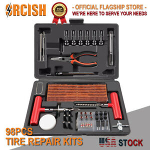 Oricsh 98pc Tire Repair Kit Diy Flat Tire Repair Car Truck Motorcycle Plug Patch