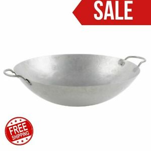 18 Hand Hammered Cantonese Wok Restaurant Bar Hotel Home Kitchen Equipment