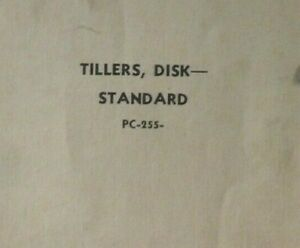 John Deere 300b h 400 400a Standard Disk Tiller Parts Catalog Manual Pc 255