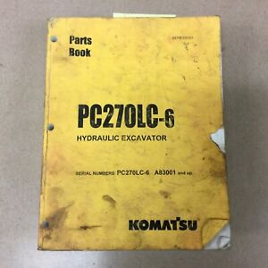 Komatsu Pc270lc 6 Parts Manual Book Catalog Hyd Excavator Guide List Bepb005301