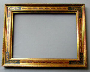 Vintage Italian Hand Painted Wood Casseta Style Picture Frame