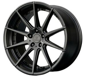 22x10 5 Verde Insignia 5x120 25 Satin Black Wheels set Of 4