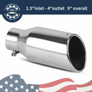 Stainless Steel Bolt On Truck Diesel Exhaust Tip2 5 Inlet 4 Outlet 9 Long