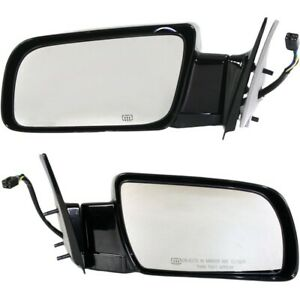 Power Heated Side View Mirrors Folding Left Right Pair Set For Chevy Gmc