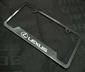 1pcs Lexus Carbon Fiber Look License Plate Frame Stainless Steel Metal