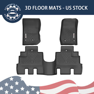 All Weather Floor Mats Liners For 2014 2018 Jeep Wrangler Unlimited 3pcs Black
