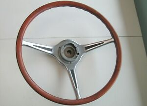 Original Porsche 356 Carrera 2 Vdm Wood Steering Wheel Real Deal Factory Install
