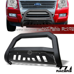 For 2006 2010 Ford Explorer Sport Trac Matte Blk Avt Edge Bull Bar Bumper Guard