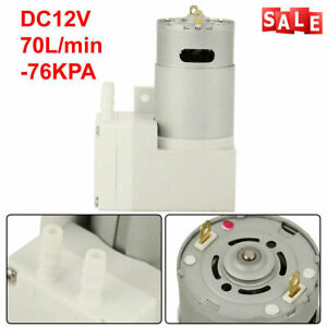 Dc12v Vacuum Pump Negative Pressure Suction Pumping Pump 7l min 76kpa 50w Usa