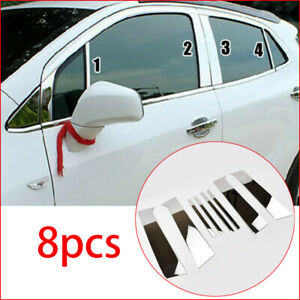 For Buick Encore Vauxhall Mokka Chrome Window Pillar Posts Cover Trim 2012 2018