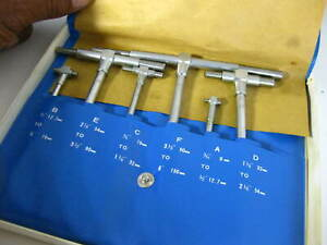 Telescope Gage Set No mg005 5 16 To 6 Inches new Old Stock