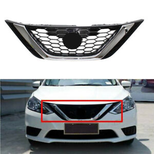 For Nissan Sentra 2016 2018 2017 Front Bumper Upper Chrome Grill Abs Chrome Usa