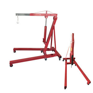 2 Ton 4400 Lb Engine Motor Hoist Cherry Picker Shop Crane Lift Foldable Red