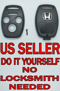 New 2008 2012 Honda Accord Without Chip Holder Remote Key Fob Shell Pad Case