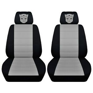 Car Seat Covers 1986 Pontiac Fiero Black Silver Front Seat Personalized Design