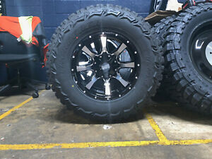 17x9 Moto Metal Black Mo970 33 Mt Wheels Rims Tires 8x170 Ford Excursion F250