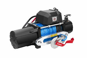 Zeak 12000lb Electric Winch Synthetic Rope Waterproof Off Road For Jeep Truck