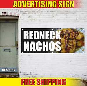 Redneck Nachos Advertising Banner Vinyl Mesh Decal Sign Mexican Chips Tacos Hot