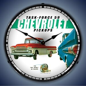 1959 Chevrolet Pickup Truck Wall Clock Led Lighted
