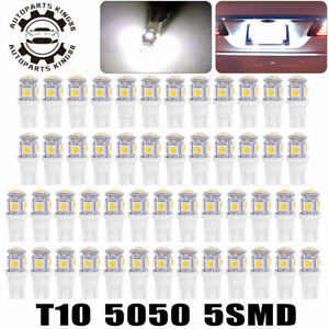 50x Super White T10 5050 5 led Interior Light Bulbs W5w 192 194 158 168 175 2825