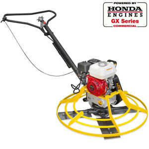 36 Inch Honda Gx 160 Series Walk Behind Power Trowel Concrete Cement