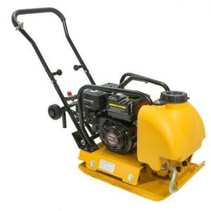 6 5hp Plate Compactor Gas Vibration Walk Behind Tamper Rammer W Water Tank