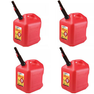 Gas Cans 5 Gallon Each 4 Pack Plastic Will Not Corrode Or Rust Brand New