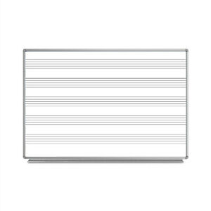 Offex Classroom 72 w X 48 h Wall mounted Music Magnetic Dry erase Whiteboard