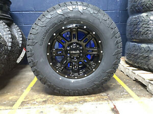 Helo He900 17x9 Black Wheels Rim 33 Fuel At Tires Package 6x5 5 Toyota Tacoma