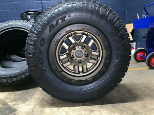 Black Rhino 17x9 5 Bronze Wheels Rims 33 Toyo At Tires 6x5 5 Chevy Silverado