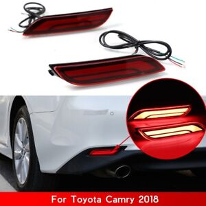 For Toyota Camry 18 19 Auto Car Led Light Rear Warning Bumper Light Brake Light