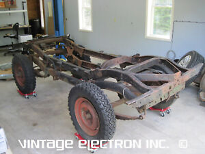 1949 1950 1951 1952 1953 Willys Jeep Cj 3a Roller Chassis Frame Bottom