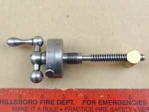 Excellent Large Dial South Bend 9 10k Lathe Compound Rest Top Screw Brass Nut