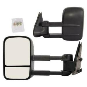 Left Right For 99 07 Silverado Sierra Extend Tow Telescoping Side Mirrors Manual