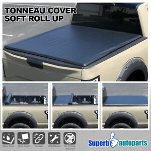 For 2014 2019 Ford F 150 Truck 5 5ft Bed Soft Roll Up Vinyl Tonneau Cover