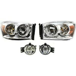 Auto Light Kit For 2007 2008 Dodge Ram 1500 Driver And Passenger Side Headlight